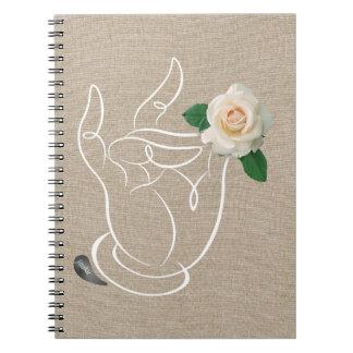 Cheiro de Jitaku o caderno de linho do cobrir dos