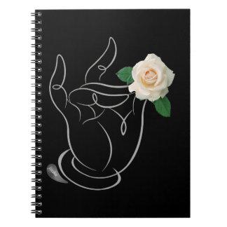 Cheiro de Jitaku o caderno do cobrir do preto dos