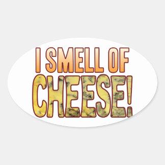 Cheiro do queijo azul adesivo oval