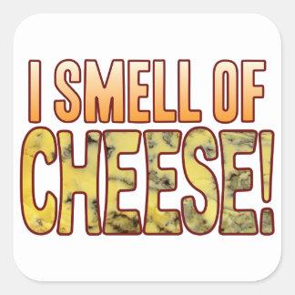Cheiro do queijo azul adesivo quadrado