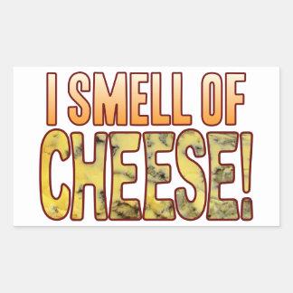 Cheiro do queijo azul adesivo retangular