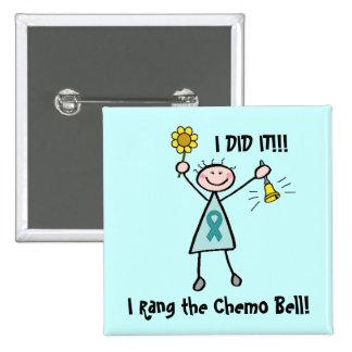 Chemo Bell - cancro do colo do útero Bóton Quadrado 5.08cm