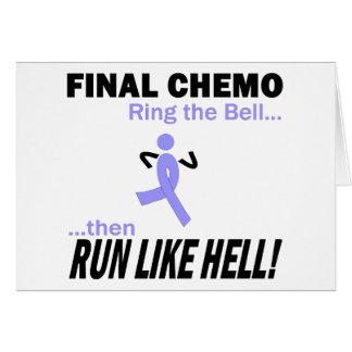 Chemo final funciona muito - fita da lavanda cartão comemorativo