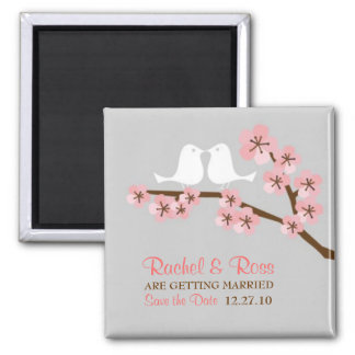 Cherry Blossom Garden Wedding Save the Date Refrigerator Magnets