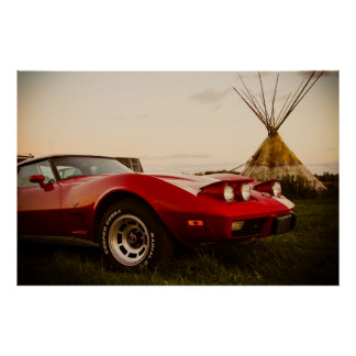 Chevrolet Corvette 1978 Poster