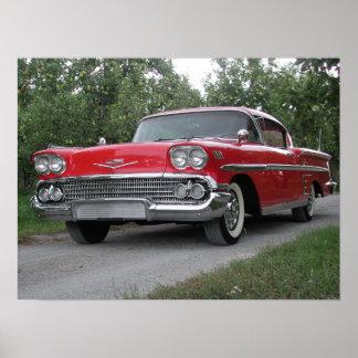 Chevrolet Impala 1958 Poster