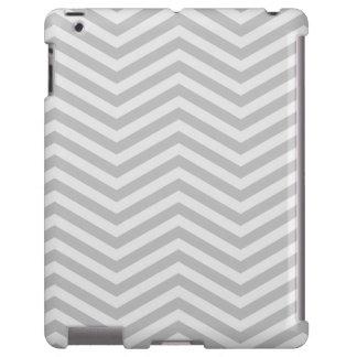 Chevron à moda desvaneceu-se cinza capa para iPad
