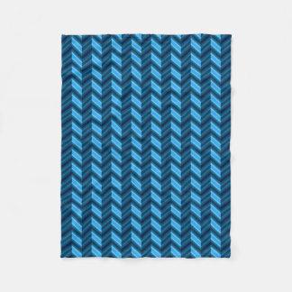 Chevron azul escuro legal cobertor de lã