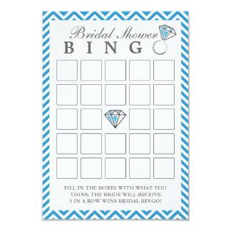 Chevron azul listra cartões do Bingo do chá de Convite 8.89 X 12.7cm