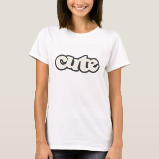 Chevron bege; ziguezague t-shirt