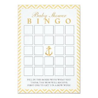 Chevron náutico listra cartões do Bingo do chá de Convite 8.89 X 12.7cm