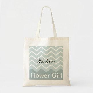 Chevron personalizou o bolsa da festa de casamento