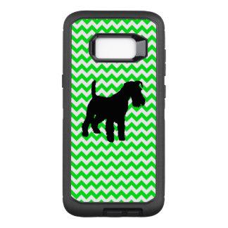 Chevron verde irlandês com Schnauzer Capa OtterBox Defender Para Samsung Galaxy S8+
