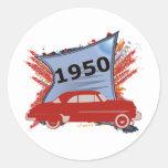 Chevy 1950 adesivo redondo