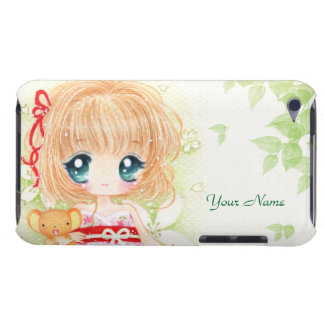 Chibi bonito com plushie do kawaii - capa do ipod  capa para iPod touch