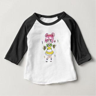 chibi do carnaval com miçanga da parada camiseta para bebê