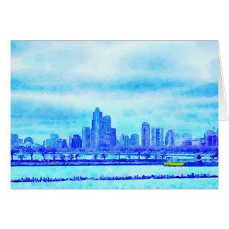 Chicago do cartão do cais do marinho