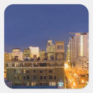 Chicago, Illinois, skyline disparou do laço Adesivo Quadrado
