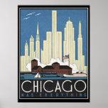 Chicago tem tudo impressão do vintage