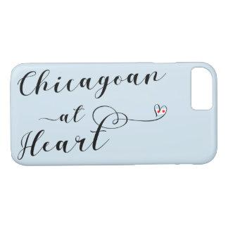 Chicagoan na capa de telefone do móbil do coração