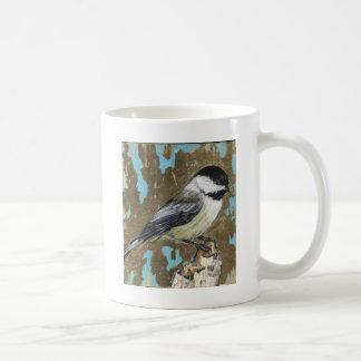 Chickadee tampado preto caneca de café
