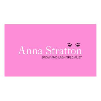 Chicote cor-de-rosa e testas dos olhos bonitos cartão de visita