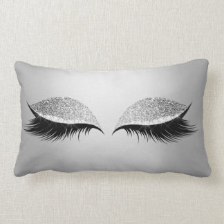 Chicotes Glam da composição dos olhos roxos de Almofada Lombar