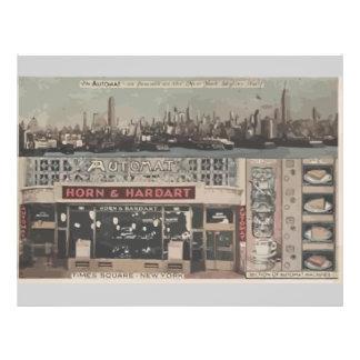 Chifre do restaurante automático quadrado New Yo Panfletos Personalizados