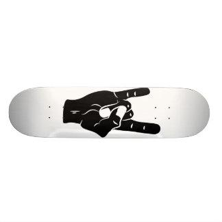 Chifres do diabo do rolo da rocha n shape de skate 18,1cm