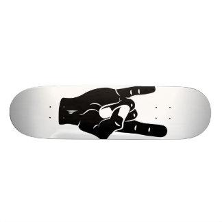 Chifres do diabo do rolo da rocha n shape de skate 20,6cm
