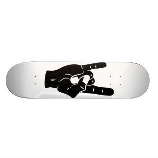 Chifres do diabo do rolo da rocha n shape de skate 21,6cm