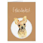 Chihuahua da aguarela, Felicidades! Aniversário fe Cartão Comemorativo