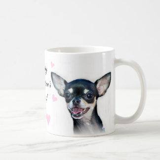 Chihuahua do feliz dia dos namorados caneca