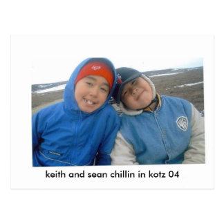 chillin de Keith sean, de Keith e de sean no kotz Cartão Postal