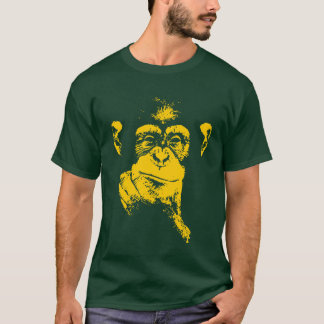 chimpanzé de pensamento camiseta
