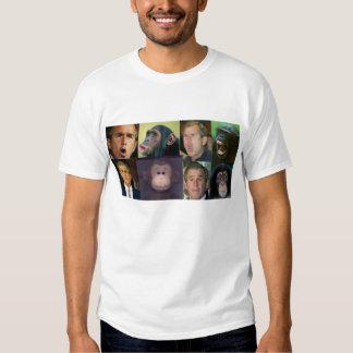 chimpanzé do arbusto t-shirt