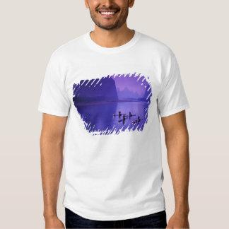China, rio de Li. Pescadores do Cormorant T-shirts