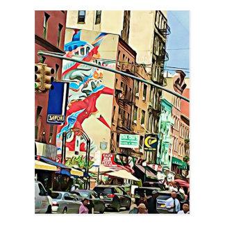 Chinatown ocupado no cartão de NYC