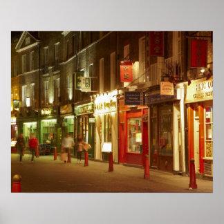 Chinatown, Soho, Londres, Inglaterra, Reino Unido Poster