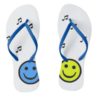Chinelo Blue and Yellow Smiley Music