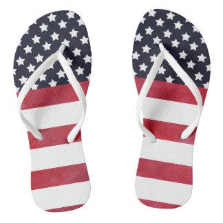 Chinelos 4o do Dia da Independência da bandeira americana