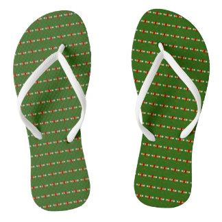 Chinelos A arte tradicional do canal floresce flip-flops