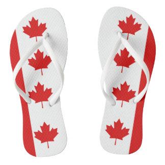 Chinelos A bandeira da folha de bordo de Canadá