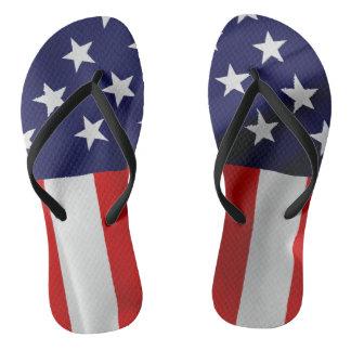 Chinelos A bandeira dos Estados Unidos da América
