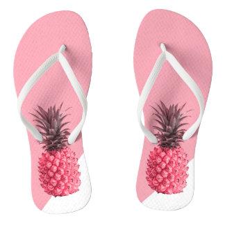 Chinelos Abacaxi cor-de-rosa e branco tropical feminino