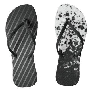 Chinelos Abstrato legal preto & do branco