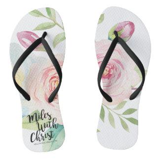 Chinelos aguarela de MilesWithChrist.com floral