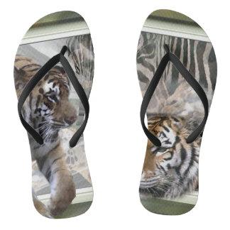 Chinelos Amantes da zebra do girafa do tigre