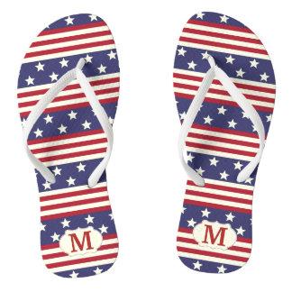 Chinelos Americano patriótico da bandeira dos Estados