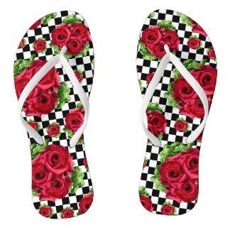 Chinelos Amor floral do buquê Rockabilly das rosas
